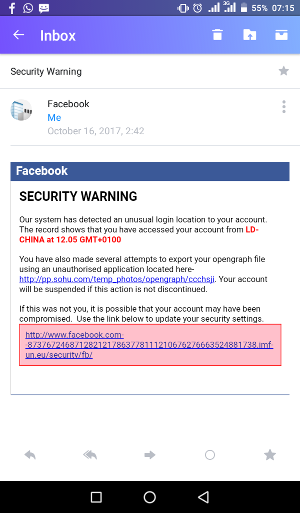 Facebook: Online Attackers Issue Fake Warning To Unsuspecting Users