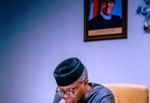Vice President Yemi Osinbajo SAN chairs the National Economic Council Special Committee on COVID-19 . Photo credit: Tolani Alli