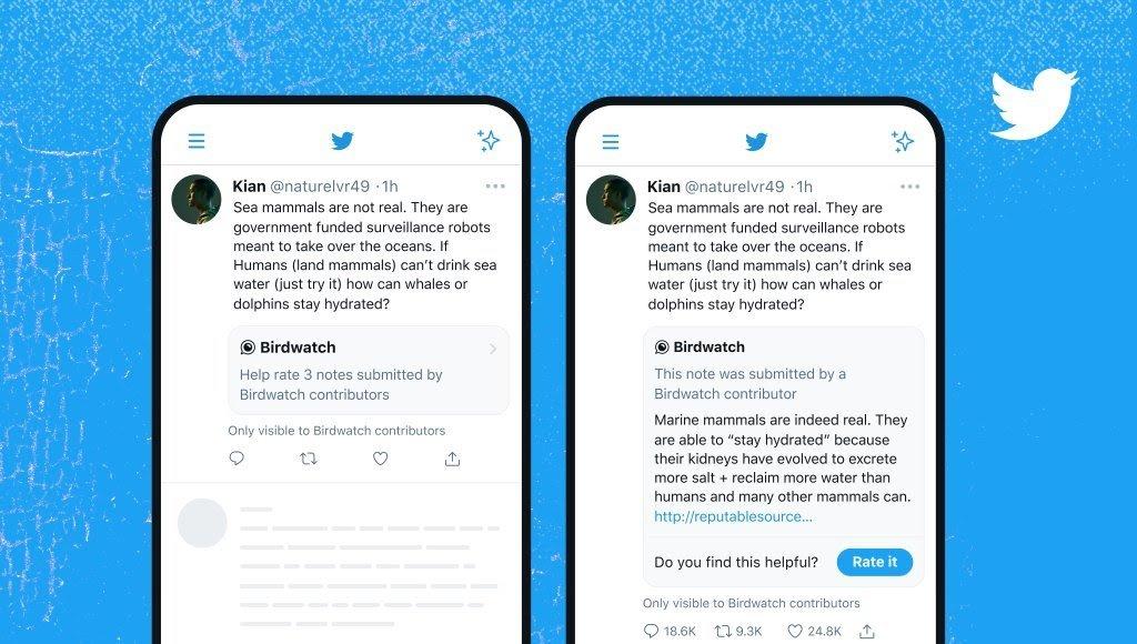 Twitter Rolls Out Birdwatch in Tweets To Avoid Misinformation